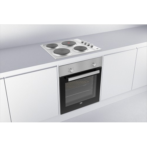 BEKO Integrated 60 cm Fan Oven Sealed Plate Hob Pack BSF211S