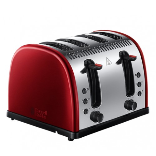 Russell Hobbs Legacy Metallic Red 4 Slice Toaster 21301