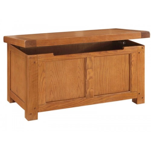 Henri Oak Blanket Box