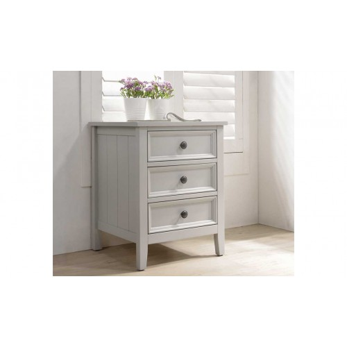Mila Bedside Table - 3 Drawer Clay