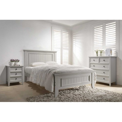 Mila Panelled Bed 5' - Clay