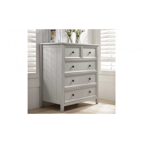 Mila Tall Chest - 3+2 Drawer Clay