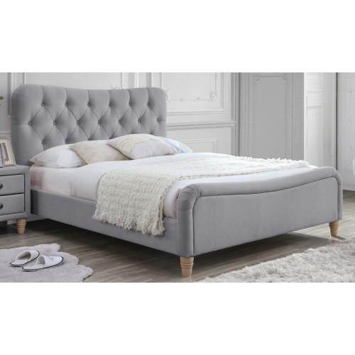 Perry Fabric Bed - Linen Grey