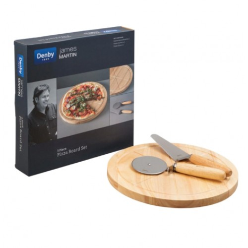 James Martin 3 Pc Pizza Board Set