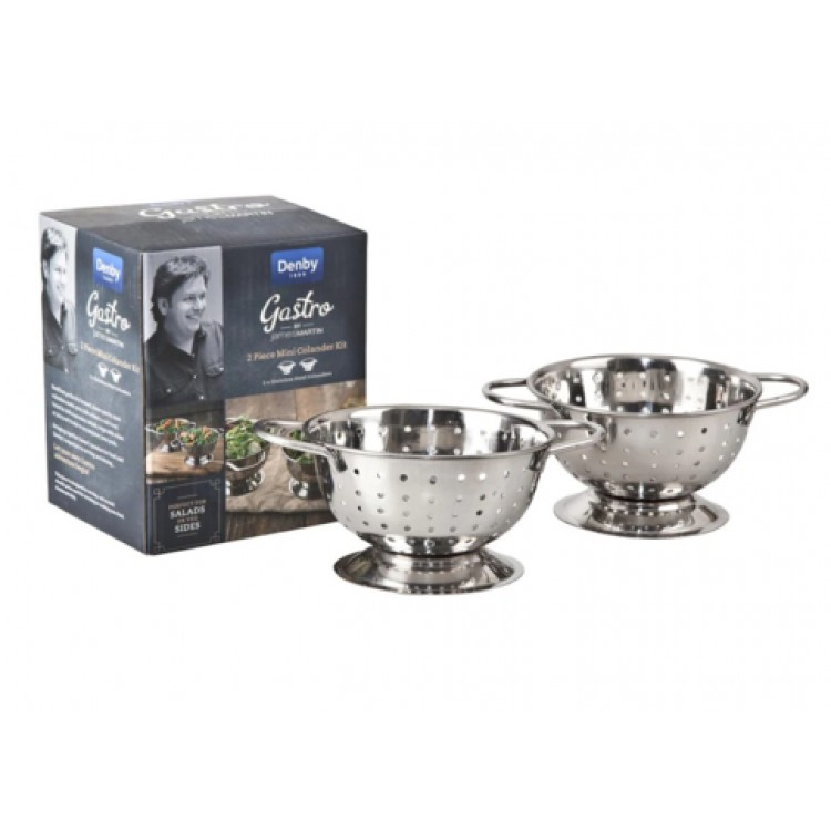 James Martin Gastro 2 Piece Mini Colander Kit
