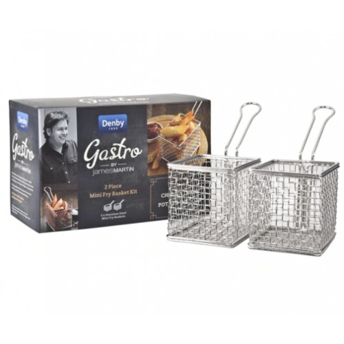 James Martin Gastro 2 Piece Mini Frying Basket Kit