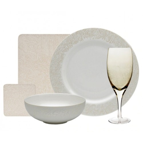 Monsoon Lucille Gold 20 Piece Entertaining Set