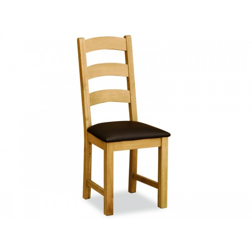 Aylesbury Compact Ladder Dining Chair Brown