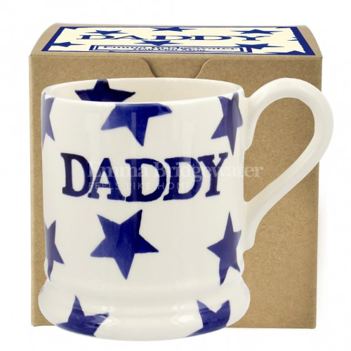 Emma Bridgewater Blue Star DADDY 1/2 Pint Mug Boxed