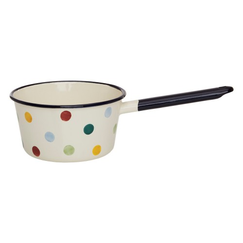 Polka Dot Enamel Medium 16cm Saucepan