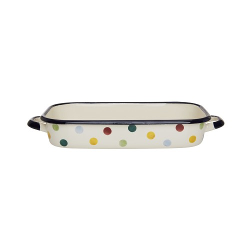 Polka Dot Enamel Medium Roasting Dish