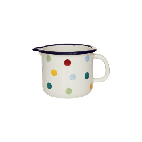 Polka Dot Enamel Milk Pot