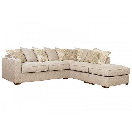 Chicago Pillow Back 2 Piece Chaise with Stool