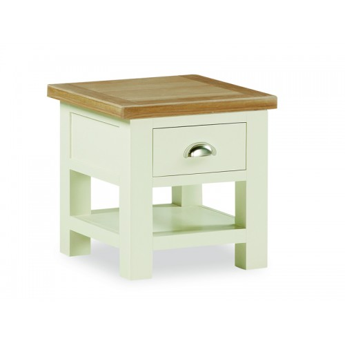 Country Cream Lamp Table
