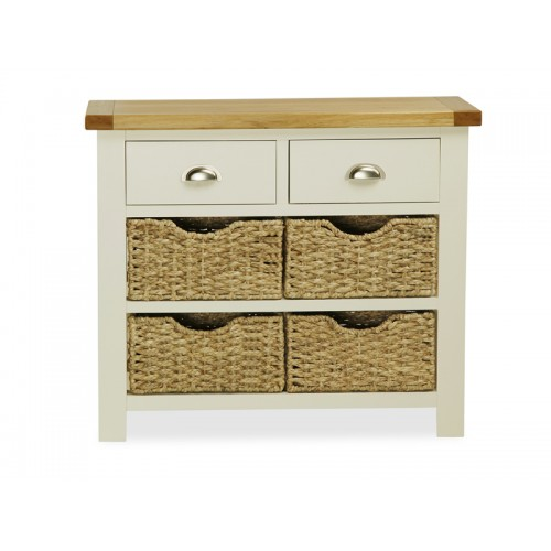Country Cream Console Table