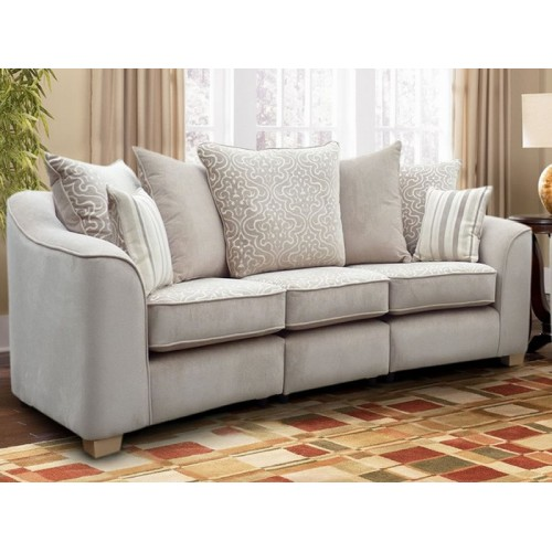 Shelly 3 Seater Pillow Back Sofa