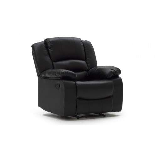 Barletto 1 Seater Recliner - Black