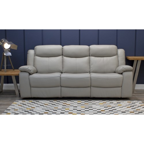 Torretta 3 Seater Recliner - Light Grey