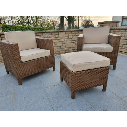 Garden chairs and stool set