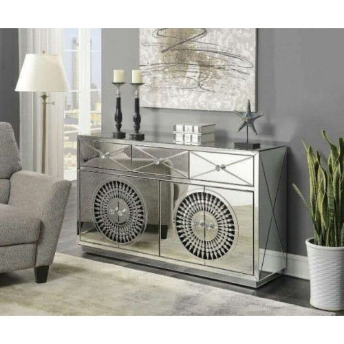 Crystal 4 Door Sideboard