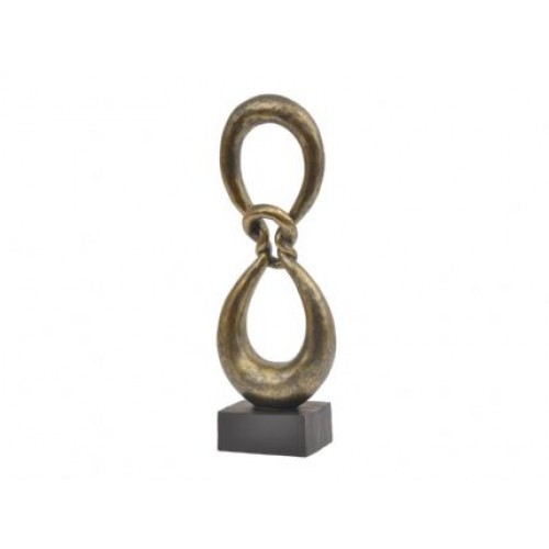 Libra antique bronze abstract infinity knot sculpture