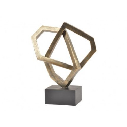 Libra antique bronze cubist sculpture