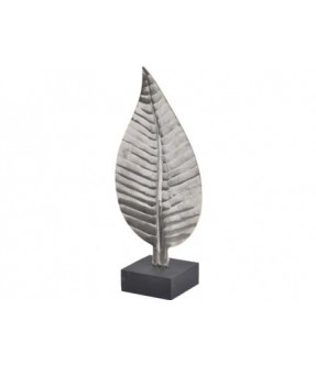 Libra ripples nickel leaf sculpture small