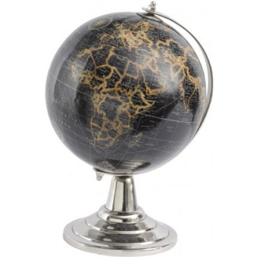 Libra small black and gold globe