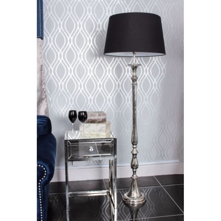 Nickel Nova Floor Lamp - Black