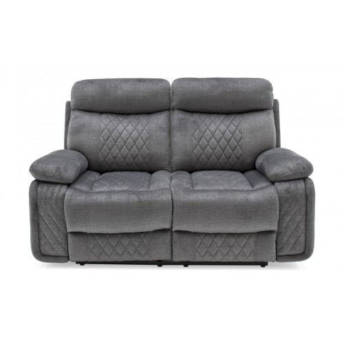 Eason 2 Seater Recliner - Grey