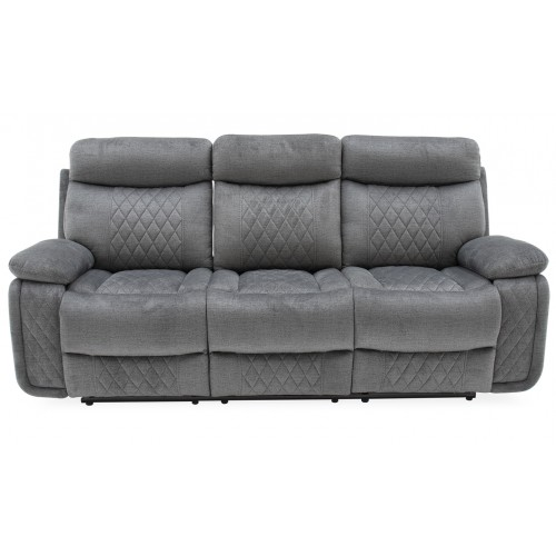 Eason 3 Seater Recliner with Tray - Grey