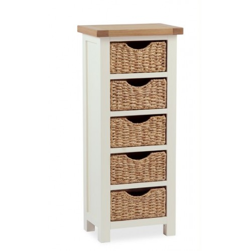 COUNTRY CREAM tallboy with baskets