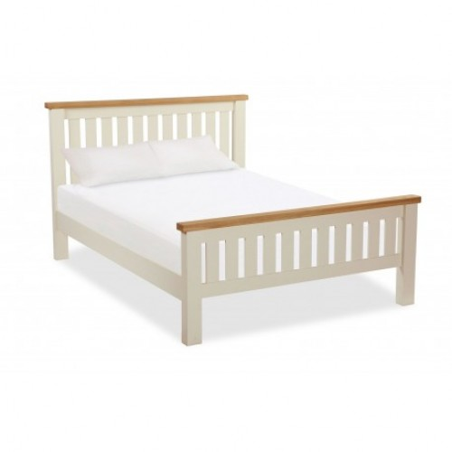 Country Cream SLATTED LOW BED 4'6