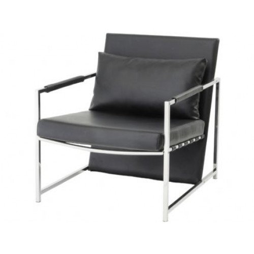 Libra clarendon black upholstered occasional chair