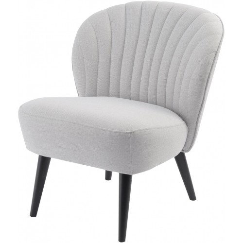 Libra curve shell back retro occasional chair zinc