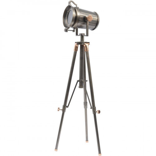 Libra Charlie Copper And Satin Grey Tripod Floor Lamp