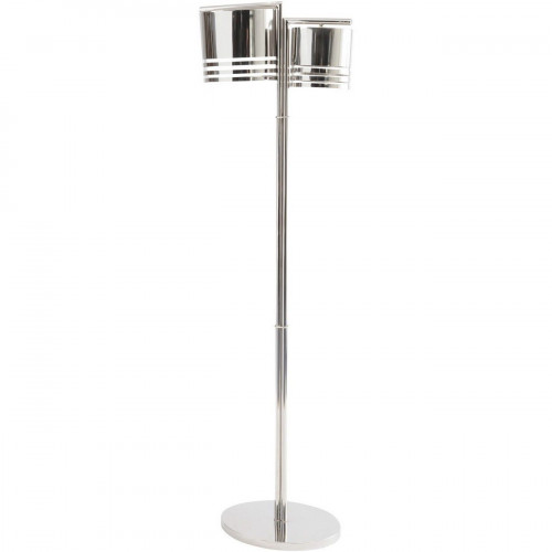Libra Destino Duo Silver Oval Shade Floor Lamp
