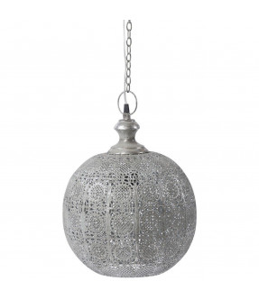 Libra Moura Antique Silver Round Pendant Light