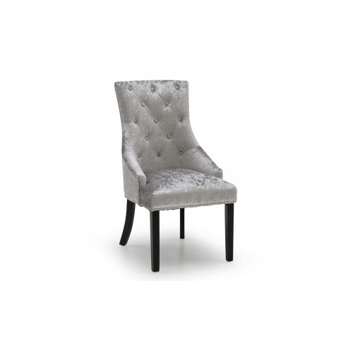 Eden Knockerback Chair - Silver