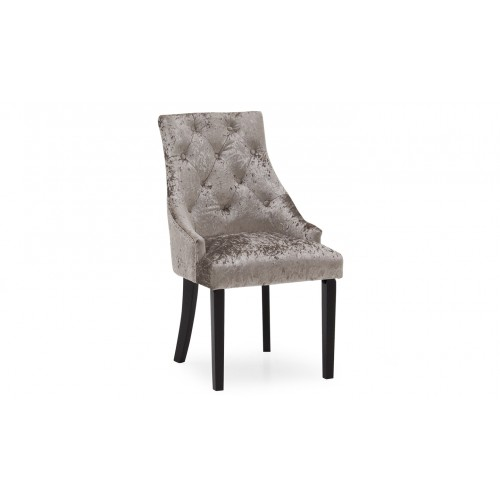 Hobbs Dining Chair - Crushed Velvet Silver