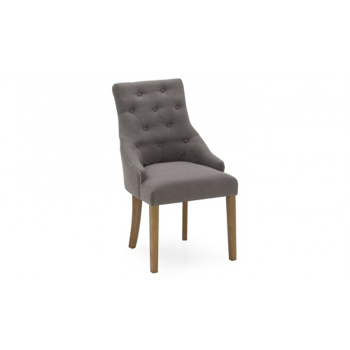 Hobbs Dining Chair - Linen Grey