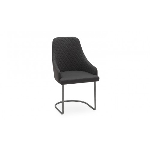 Urbino Dining Chair - Brushed Steel Charcoal