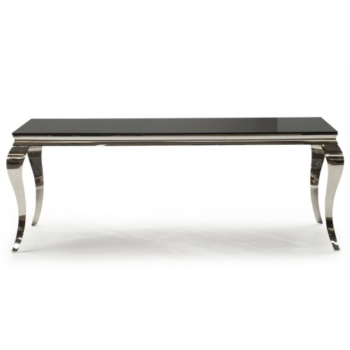 Louis Dining Table - Black 2000mm