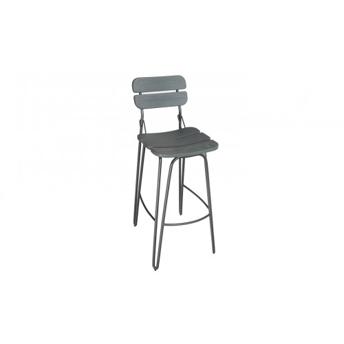 Delta Bar Chair - Grey Elm