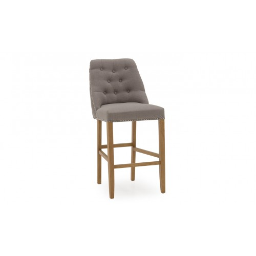 Eldridge Bar Chair - Linen Grey