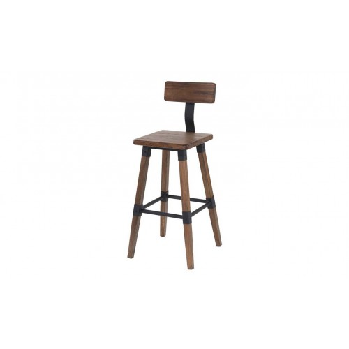Hunter Bar Chair - Rustic Elm
