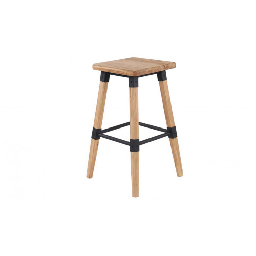 Lock Bar Stool - Natural Elm