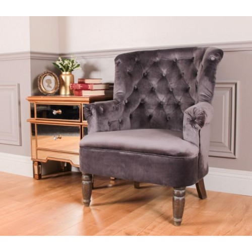 Conrad Wingback Chair - Grey