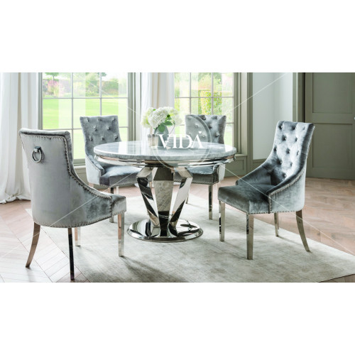 Arturo Round Dining Table - Grey 1300