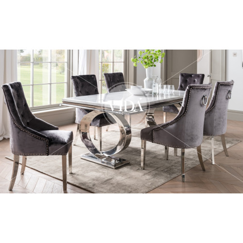 Selene Dining Table - Bone White 2000
